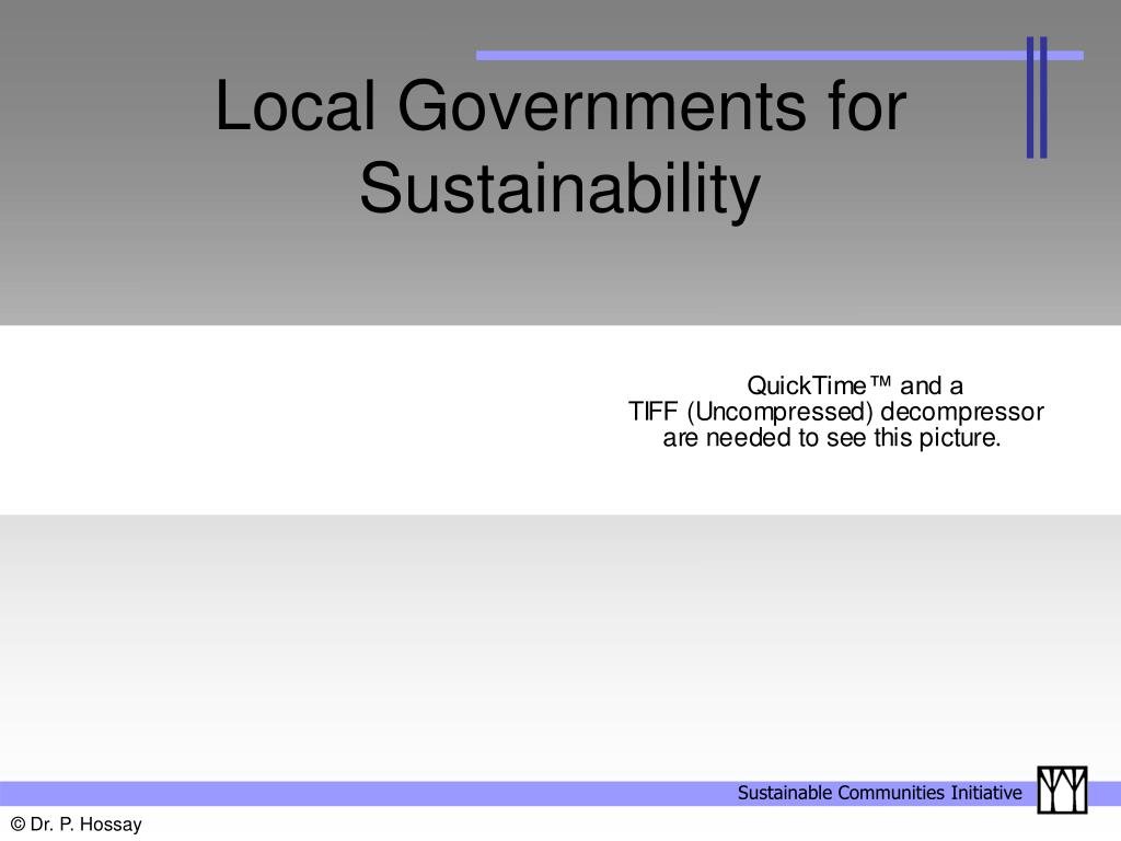 Local Governments for Sustainability