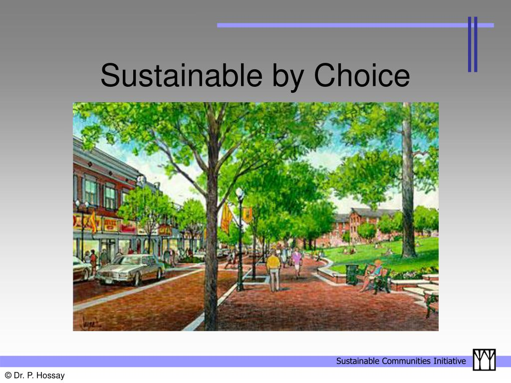 Sustainable by Choice