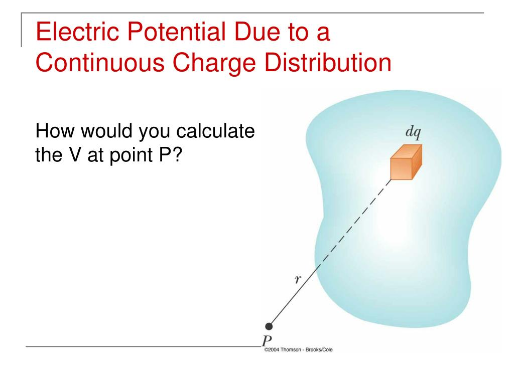 Electric Potential Due to a Continuous Charge Distribution