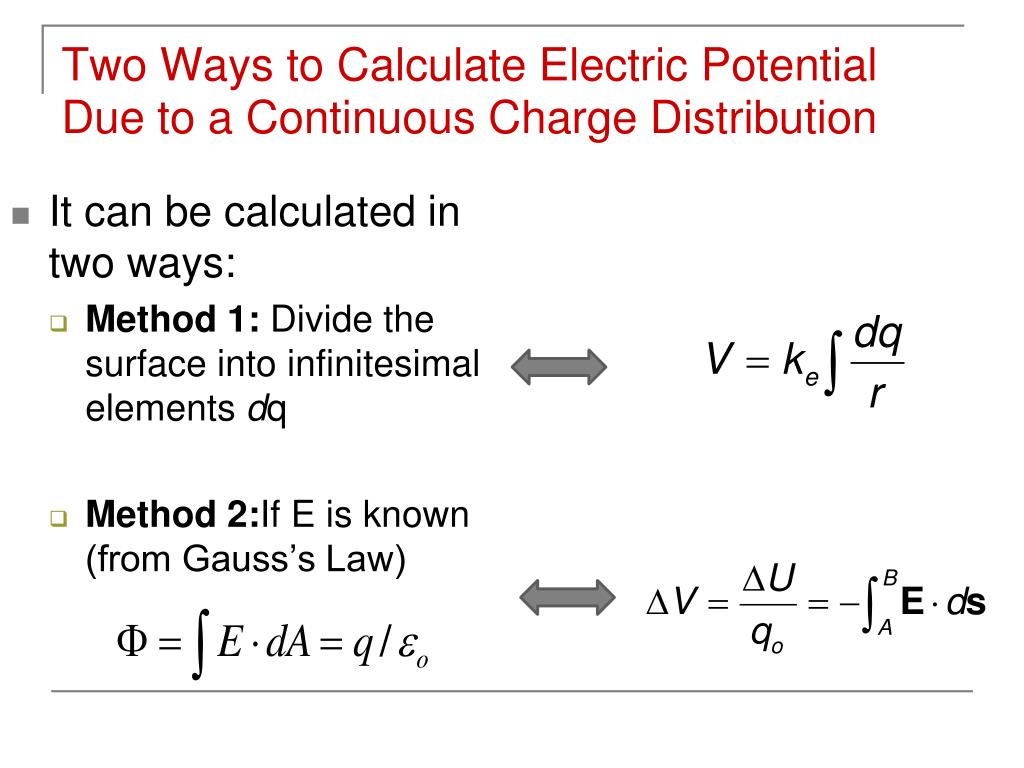 Two Ways to Calculate Electric Potential Due to a Continuous Charge Distribution