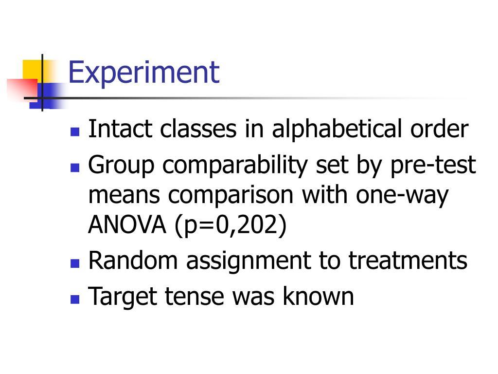 random assignment of treatments
