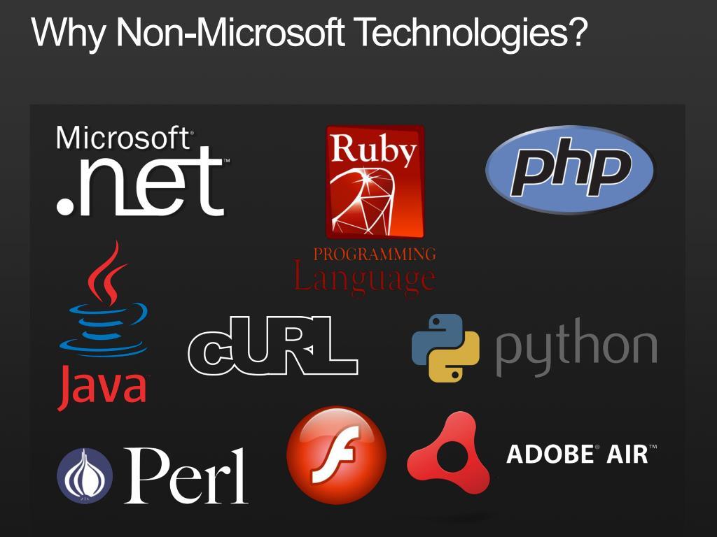 Why Non-Microsoft Technologies?