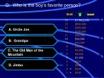 q who is the boy s favorite person