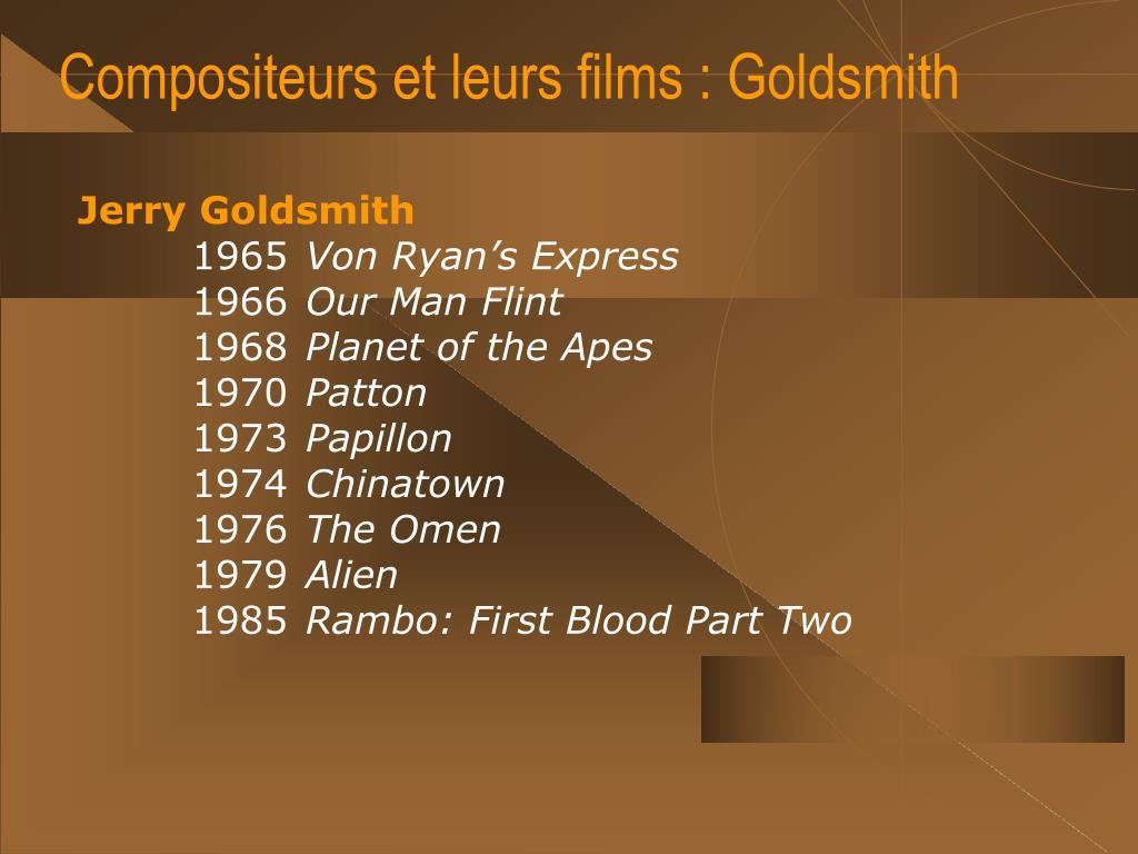 Compositeurs et leurs films : Goldsmith