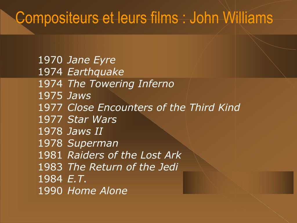 Compositeurs et leurs films : John Williams