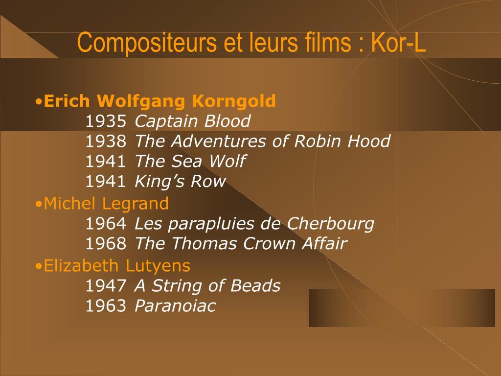 Compositeurs et leurs films : Kor-L