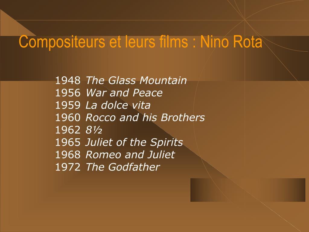 Compositeurs et leurs films : Nino Rota