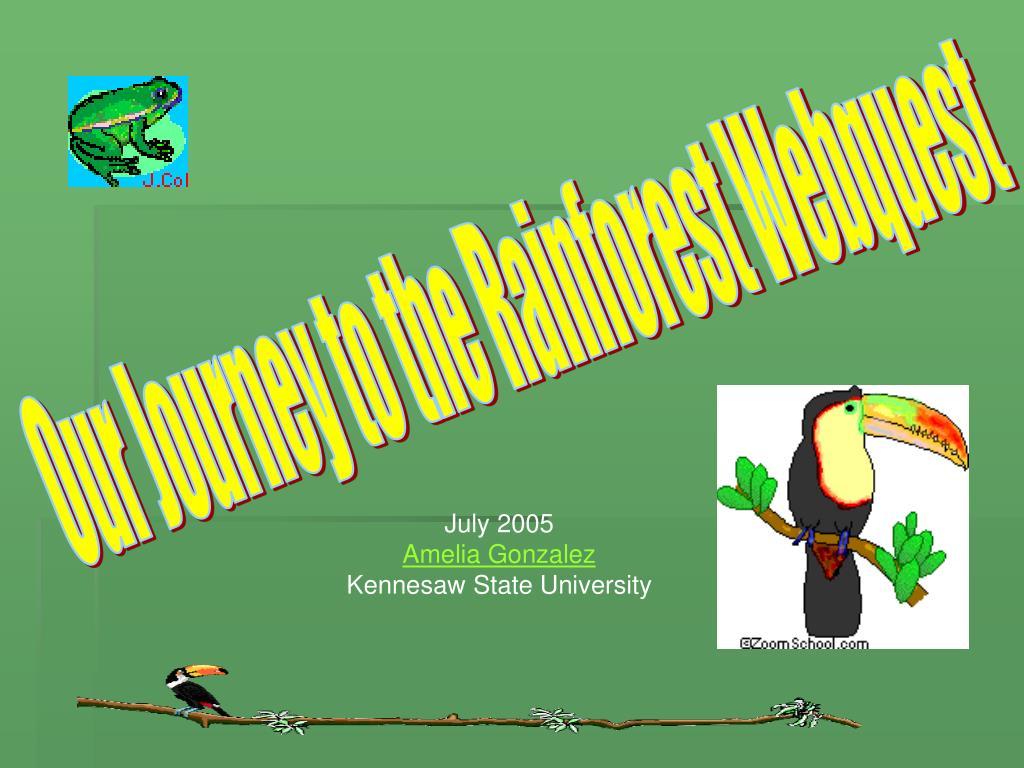 Our Journey to the Rainforest Webquest