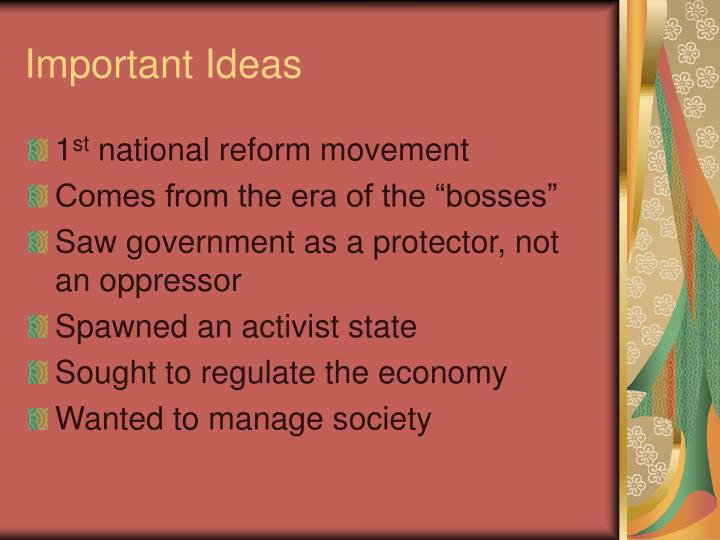 Important ideas