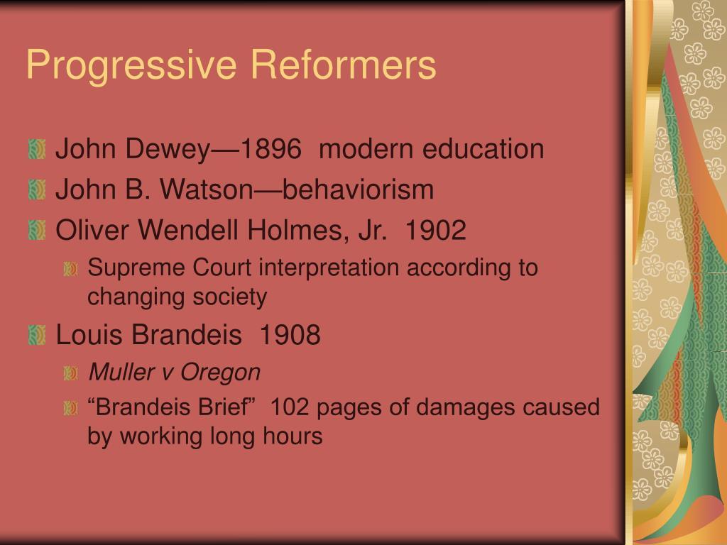 Progressive Reformers