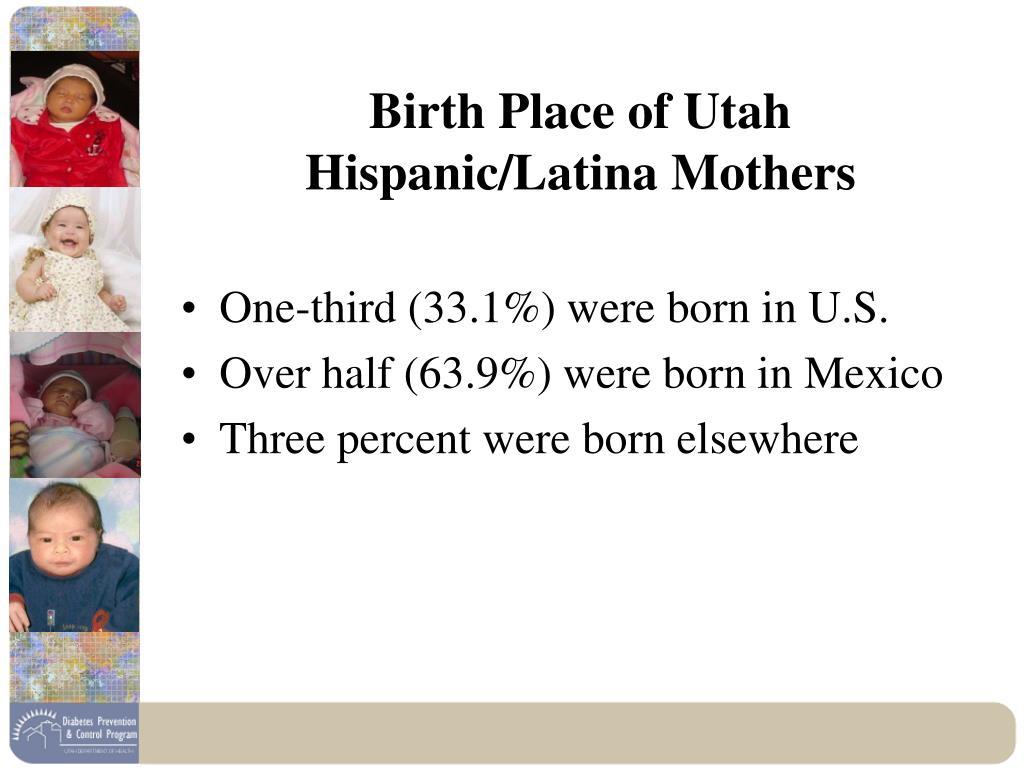 Birth Place of Utah Hispanic/Latina Mothers