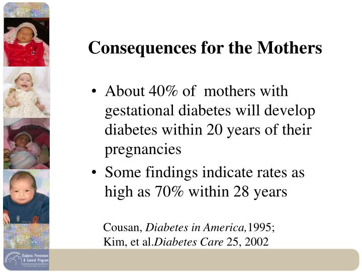 Consequences for the mothers