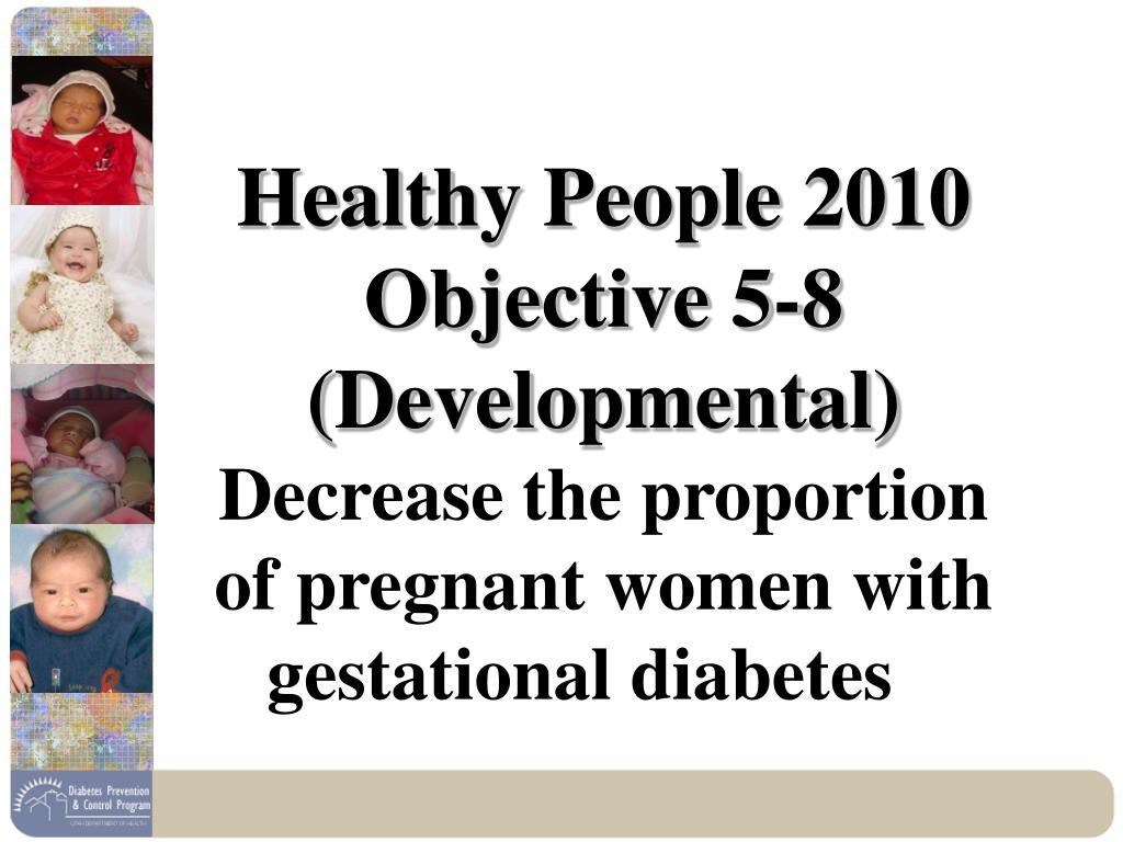 Healthy People 2010 Objective 5-8 (Developmental)