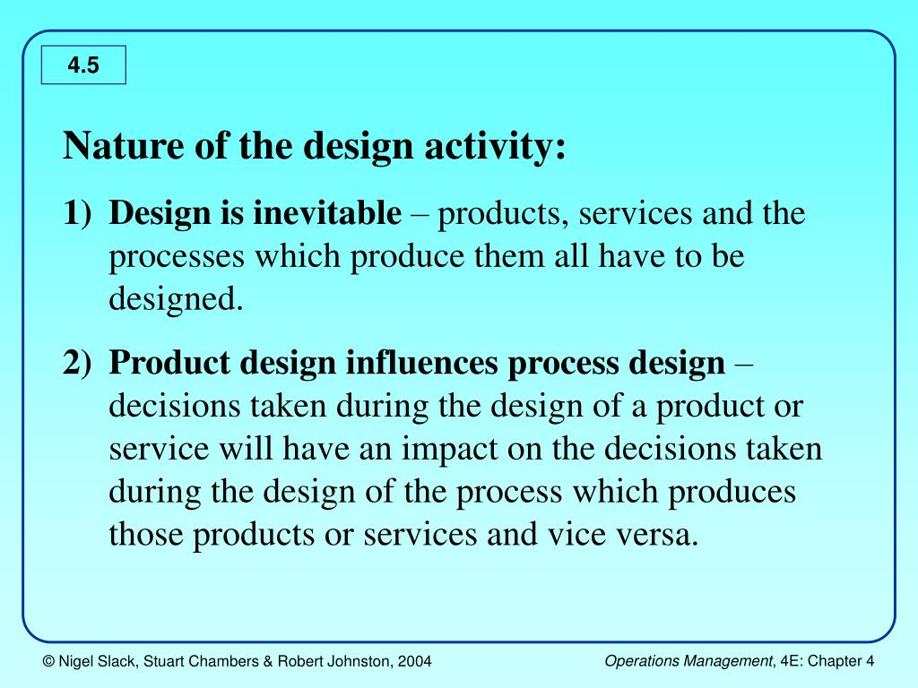 Nature of the design activity: