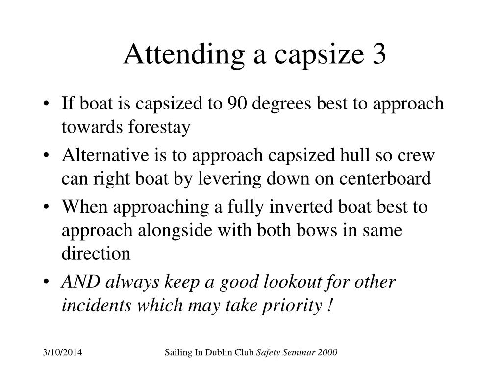 Attending a capsize 3