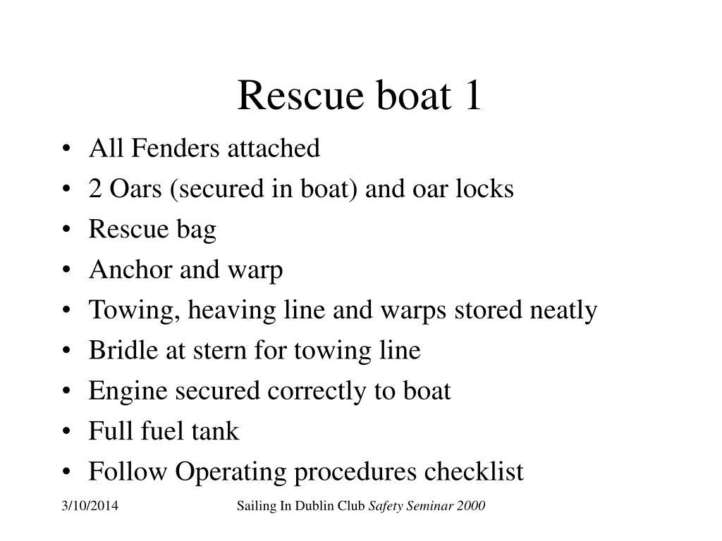 Rescue boat 1
