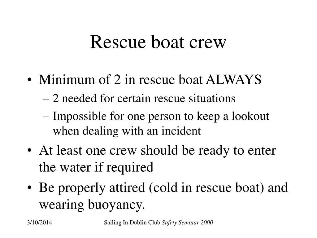 Rescue boat crew