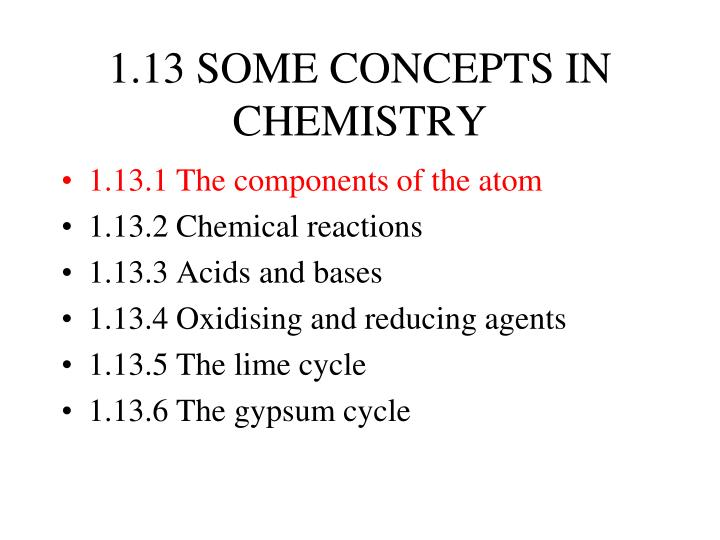 1 13 some concepts in chemistry n.