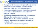 recommendations for blueprint 2 3