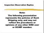 inspection observation replies2