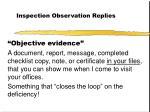 inspection observation replies28