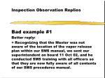inspection observation replies32