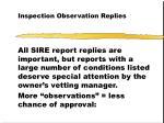 inspection observation replies43