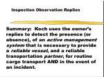 inspection observation replies45