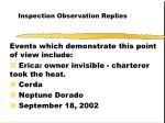 inspection observation replies49