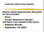inspection observation replies50