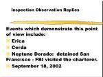 inspection observation replies51