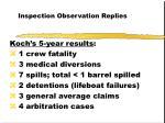 inspection observation replies56