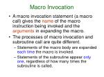 macro invocation