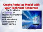 create portal as model with your technical resources