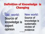 definition of knowledge is changing