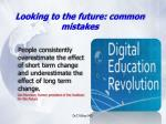looking to the future common mistakes12