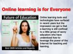 online learning is for everyone