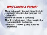 why create a portal