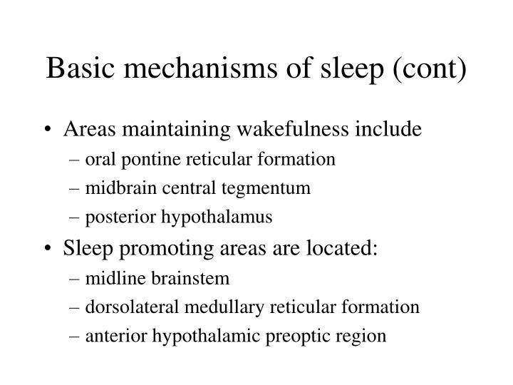 Basic mechanisms of sleep cont
