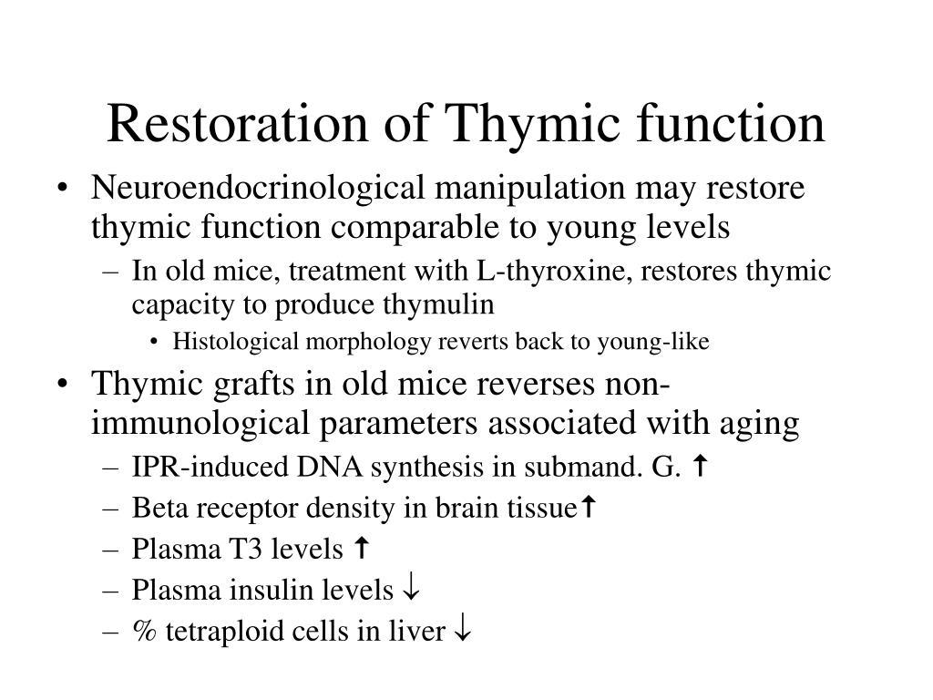 Restoration of Thymic function