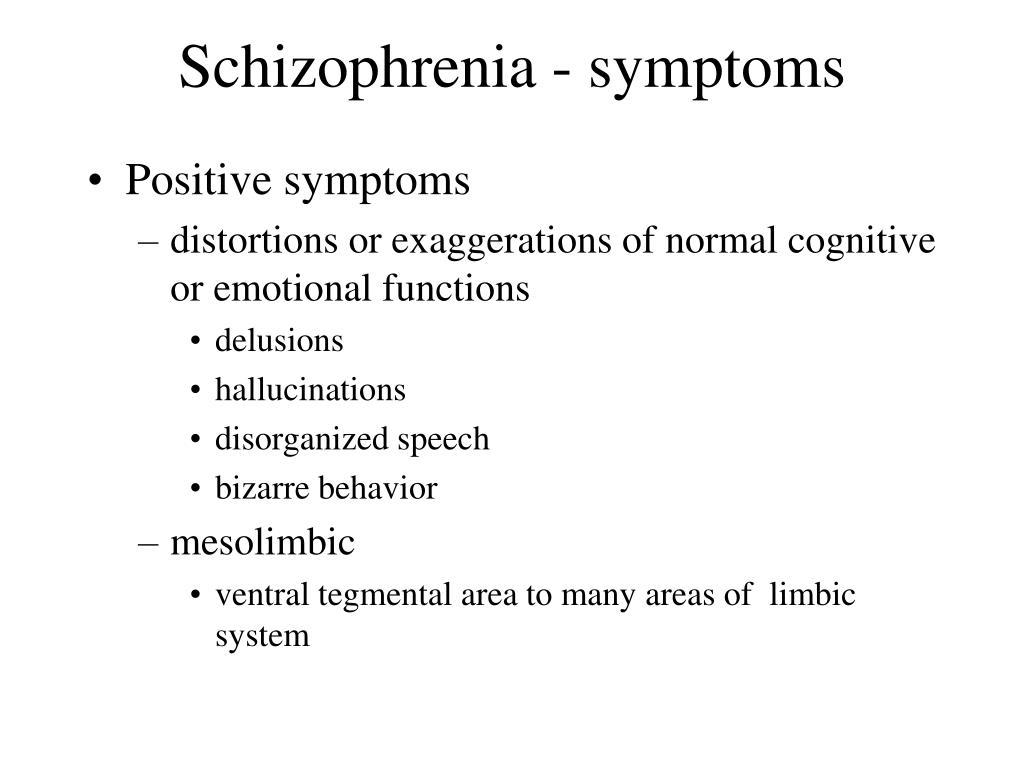 Schizophrenia - symptoms