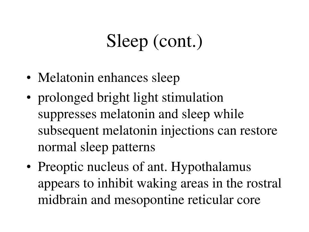Sleep (cont.)