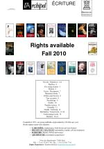 rights available fall 2010