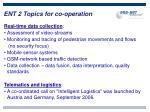 ent 2 topics for co operation