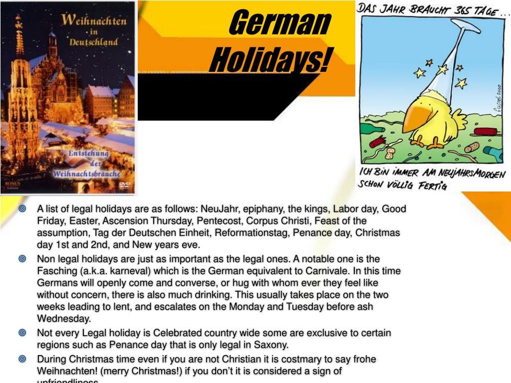 German Holidays!