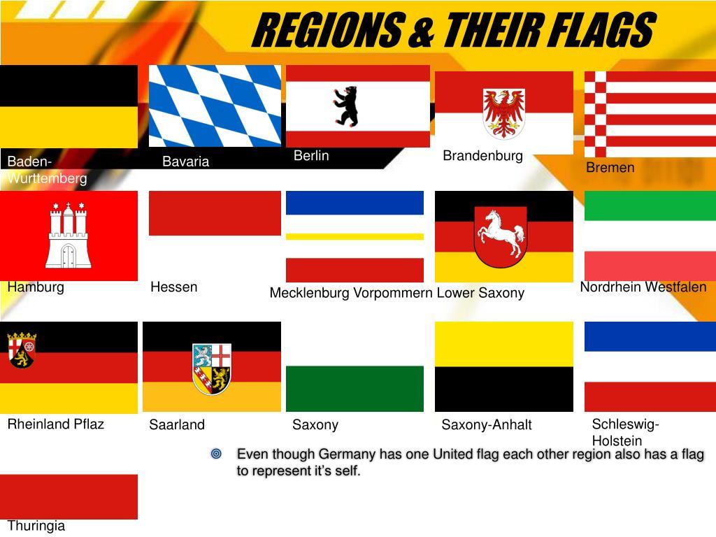 REGIONS & THEIR FLAGS