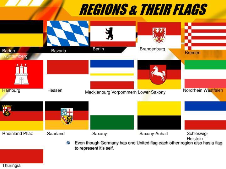 Regions their flags