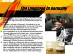 the language in germany
