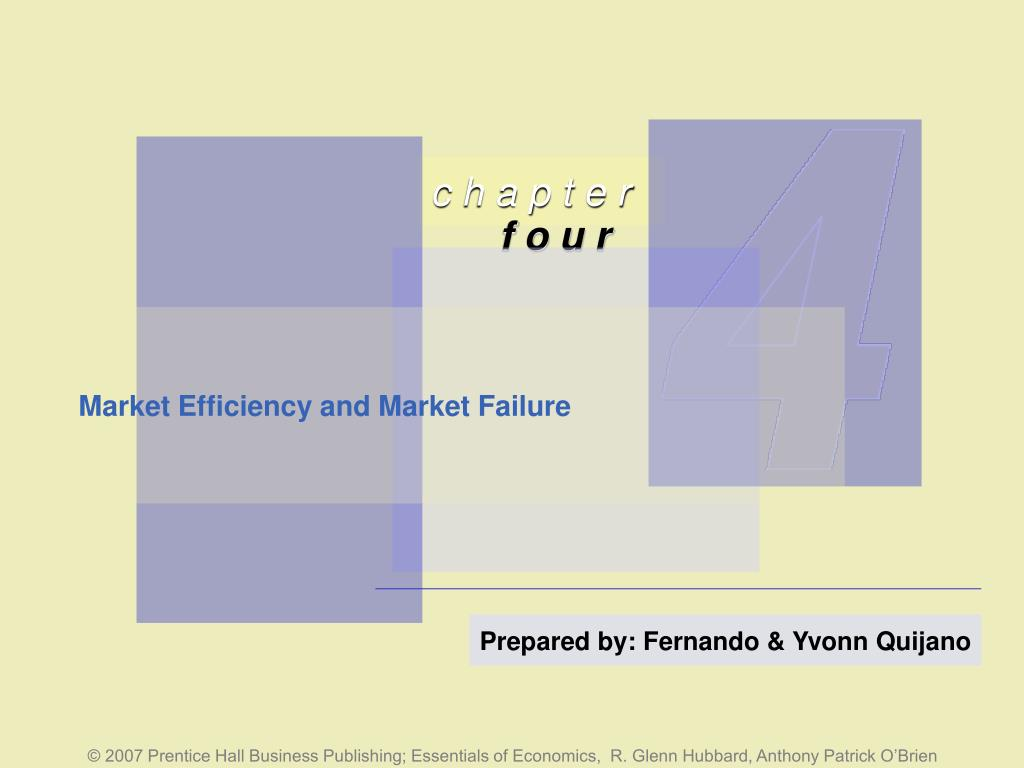 market efficiency and market failure l.