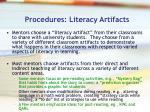 procedures literacy artifacts11